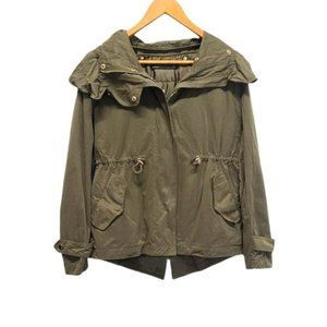 Zara Woman Green Army Heavy Coat Size Small